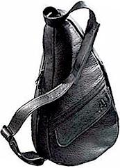 #5101 Black Ameribag Small Leather Healthy Bag