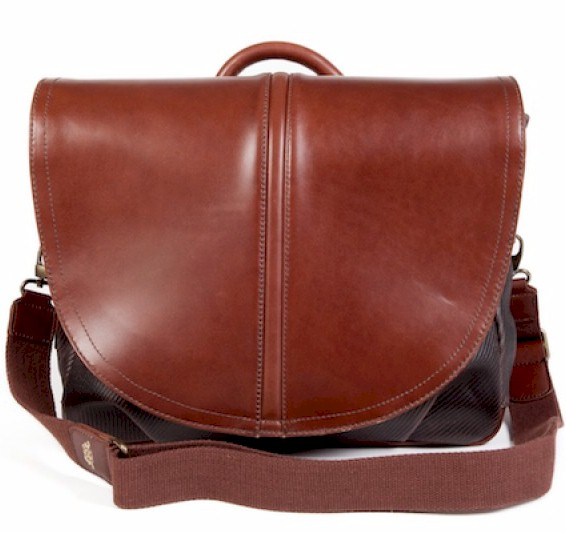811 Bosca Faustino Fabric and Leather Mail Bag