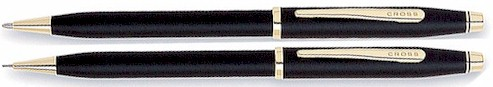 250105WG CRS Century II Black Pen/Pencil Set