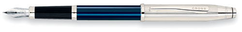 4692 CRS Century II Sterling/Blue Lacquer Fountain Pen