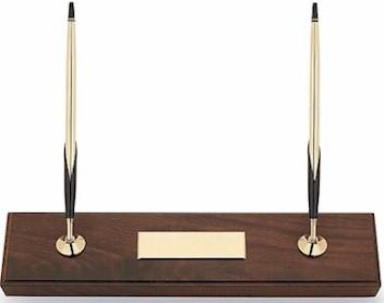 5201 Cross Walnut Desk Set w/10k Pen & Pencil