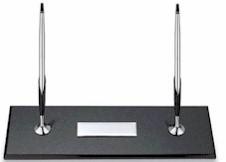 5285 Cross Bk Granite Desk Set w/Chrome Pen & Pencil