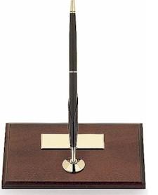 5607 CRS Single Mahogany Desk Stand w/Classic Bk BP