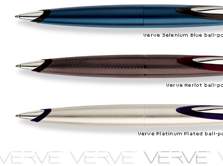 Cross Verve Merlot Ball-Point Pen with 18 Karat White Gold Plated Appointments