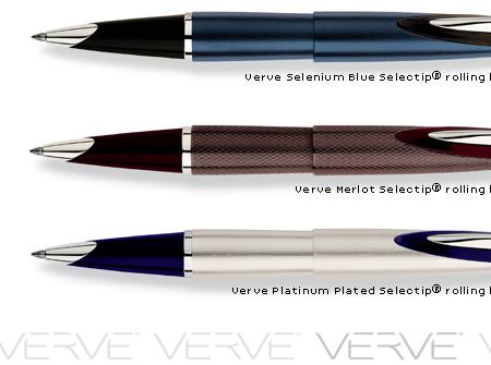 Cross Verve Platinum Plated Selectip Rolling Ball Pen