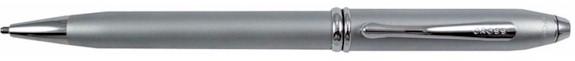 Cross Townsend Satin Chrome Ballpoint Pen w/Chrome Appointments