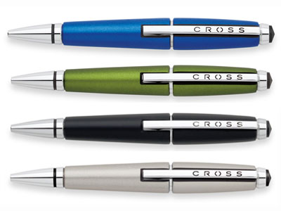 Cross Edge pen in Nitro Blue, Octane Green Jet Black and Sonic Titanium