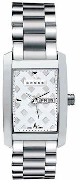 wmal37 crs mens manhattan watch w/stnls stl bracelet white dial