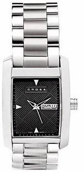wmal38 crs mens manhattan watch w/stnls stl bracelet blk dial