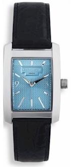 wmal46 crs mens manhattan watch w/stnls steel bracelet blue dial