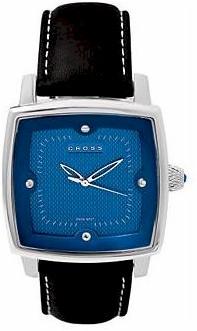 wman42 crs mens paris watch w/blk strp blue dial