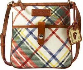 3P723 Dooney & Bourke Plaid Letter Carrier