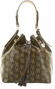 5S370 Dooney & Bourke 1975 Signature Drawstring