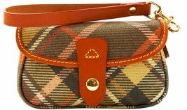 6U20 dooney bourke Plaid Flap Wristlet specials