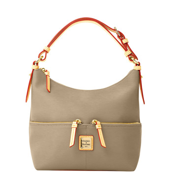 7S615  dooney bourke cork small pocket zipper sac