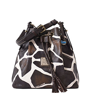 gi58 dooney bourke giraffe drawstring