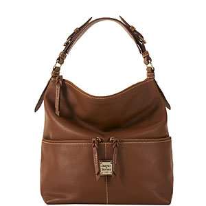 Bf354 Dooney Bourke Leather Med Zpr Pkt Sac