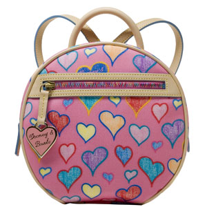 ih54 dooney bourke hearts backpack