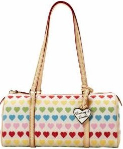 rh20 dooney bourke rainbow heart barrel bg