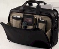 #203 Johnston and Murphy leather Briefcase