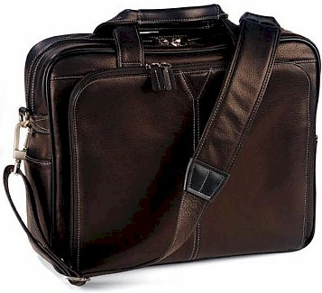 #200 Johnston and Murphy leather Briefcase