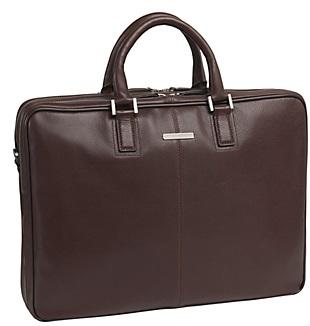 4615412 johnston & murphy ascension double-zip slimeline briefcase