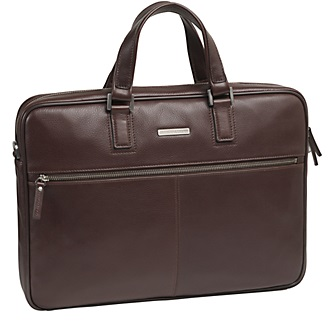 4615422 johnston & murphy ascension slim zip top briefcase