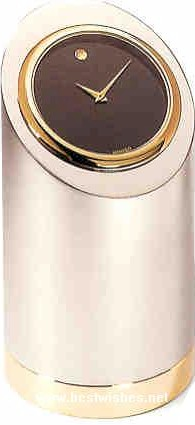 movado chrome plated brass cylinder desk clock rh londonluggage com movado desk clock battery movado desk clock crystal