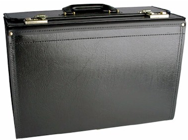5C320 20 inch Vinyl with Leather Hinge Catalog Case with Combination locks