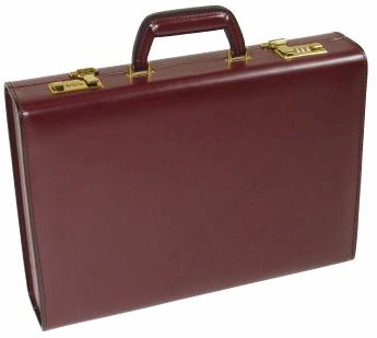 KA1056 4inch Top Grain Attache Case