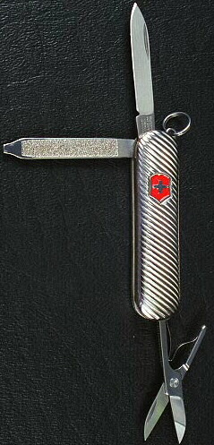 Sterling Silver Swiss Army Pocket Knife