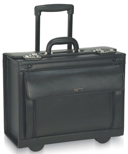 """D978 Solo Classic 17"""" Rolling Leather Catalog Case"""